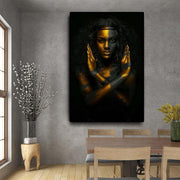 Black-and-Gold-African-Canvas-Wall-Art
