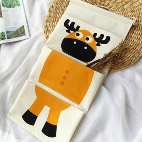Cartoon Wall Hanging Storage Bag Décor-cartoon-deer