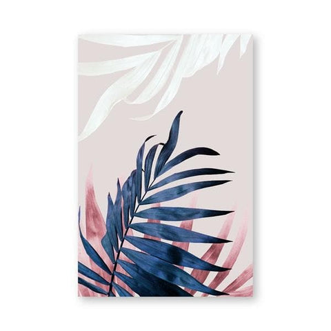 Modern Abstract Pink Leaves Canvas Poster