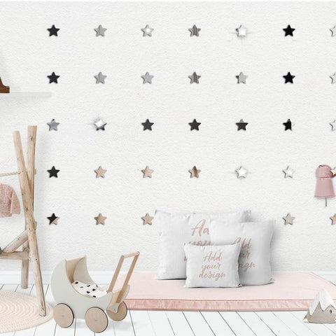 Acrylic-3D-Mirror-Stars-Wall-Stickers-white