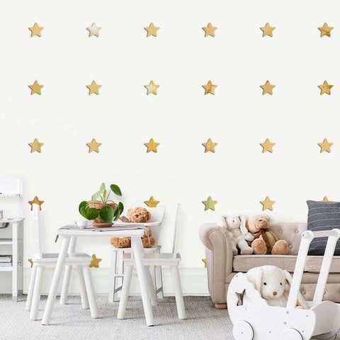 Acrylic-3D-Mirror-Stars-Wall-Stickers-gold
