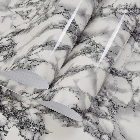 Waterproof Marble Wood Wallpaper