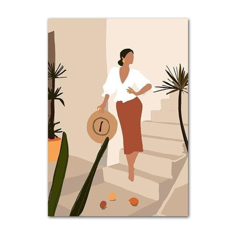 Vintage Girl Minimalist Wall Art - Home Décor - kitchen decal - wall art