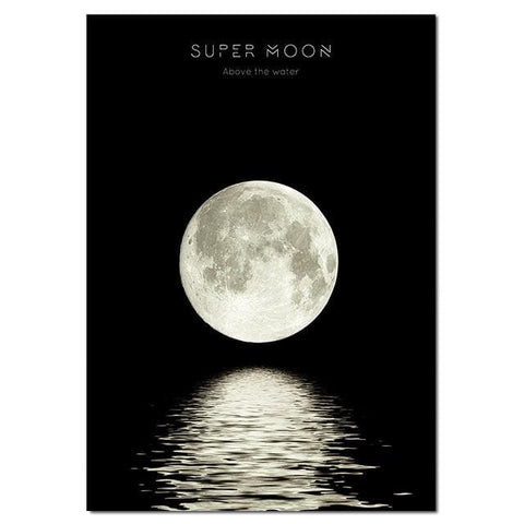 Moon Phase Canvas Posters - Wall Art - canvas poster - wall Sticker