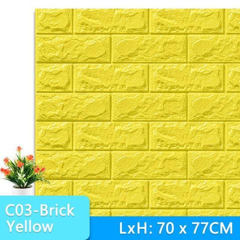 3D-Wallpaper-stone-tile-yellow