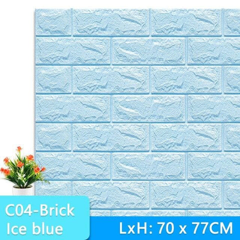 3D-Wallpaper-stone-tile-ice blue