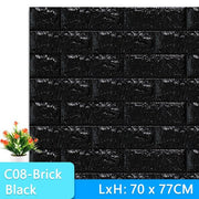 3D-Wallpaper-brick-tile-black