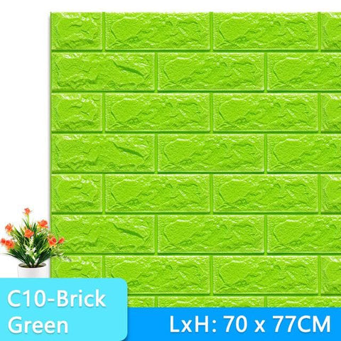 3D-Wallpaper-stone-tile-green