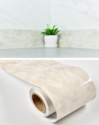 Decorative-Marble-Vinyl-Wall-Border-Baseboard-light-pink