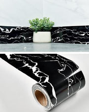 Decorative-Marble-Vinyl-Wall-Border-Baseboard-black