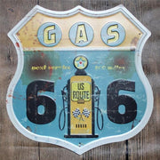 Route 66 Signs Vintage Metal Tin Wall Décor
