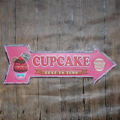 Vintage Metal Tin Signs Poster For Coffee Bar Decoration - Irregular Plaques