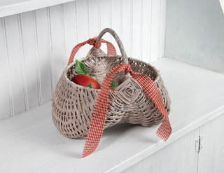 Whitewashed gathering basket