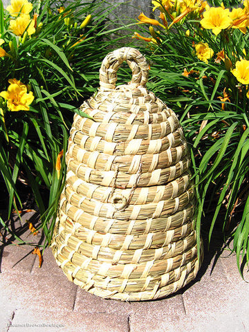 Bee Skep Basket Made From Natural Straw