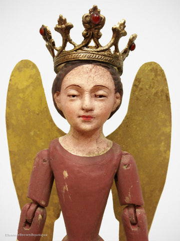 Mini Santos Angel Mannequin, Articulated with Wings - Red