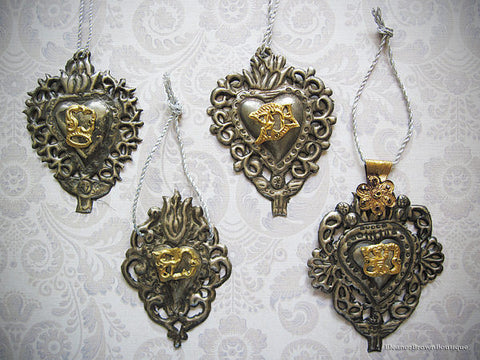 Set of 4 Primitive Style Silver Ex-Votos (Milagros)