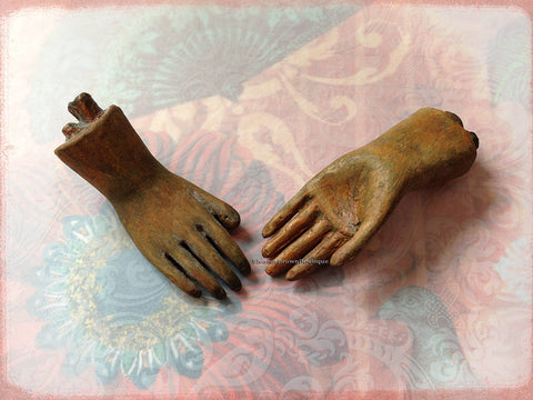 Petite Pair of Santos Doll Hands