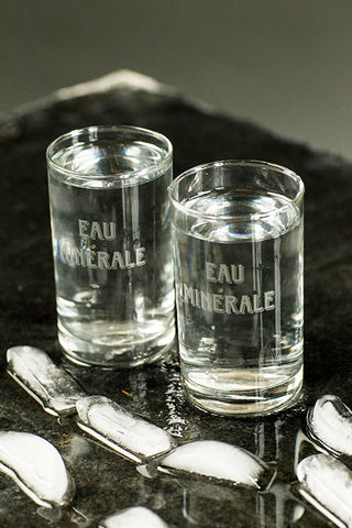 Eau Minerale - French Drinking Glasses, Set/4