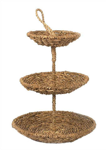 Rope 3 Tier Tray with Handle