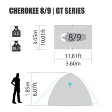 Load image into Gallery viewer, NTK TENT - Cherokee GT 8-9