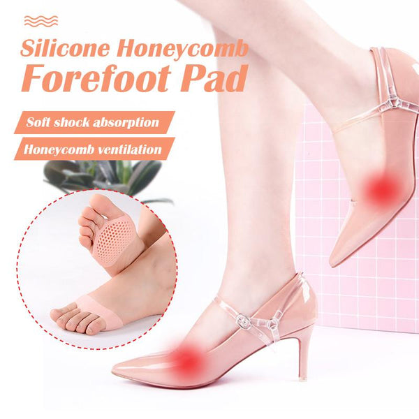 Foot Forefoot Pad Reusable Pain Relief Silicone Versatile Honeycomb Use#