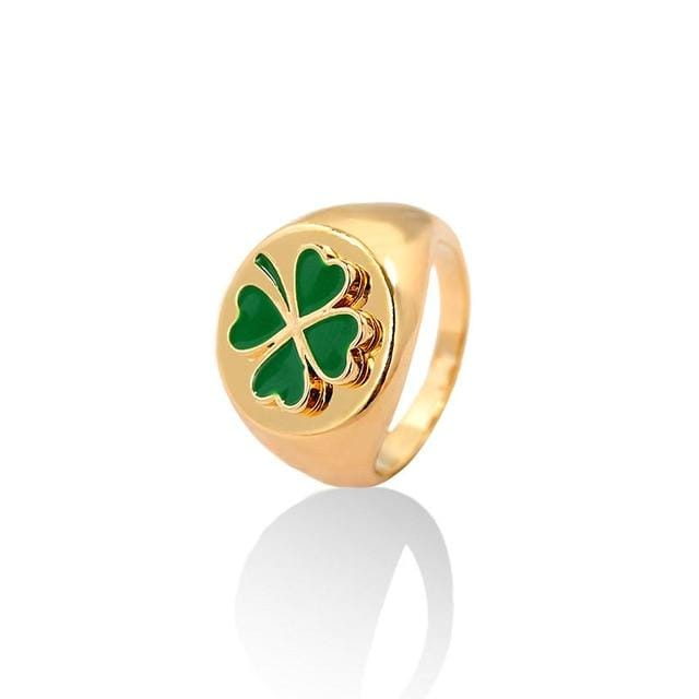 Glambear 7 / Clover Colored Ying Yang Ring