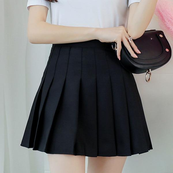 glambear Black / L Classic Tennis Pleated Skort