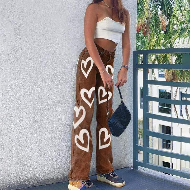 Glambear Bleach Heart Jeans