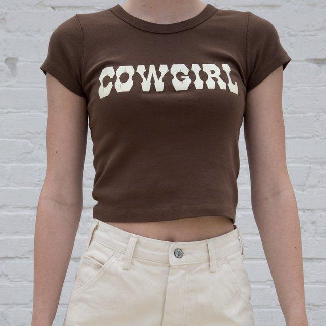 Glambear Brown 'Cowgirl' Top
