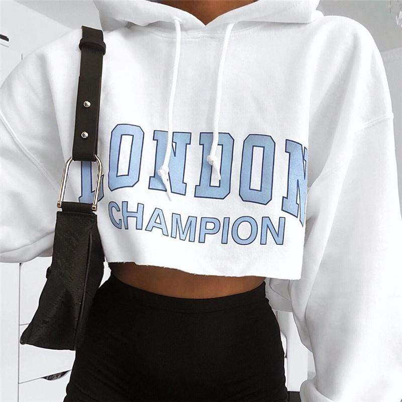 glambear London Champion Cropped Hoodie