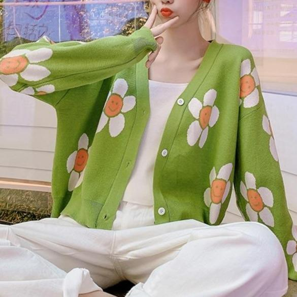 glambear Outerwear Flower Power Cardigan