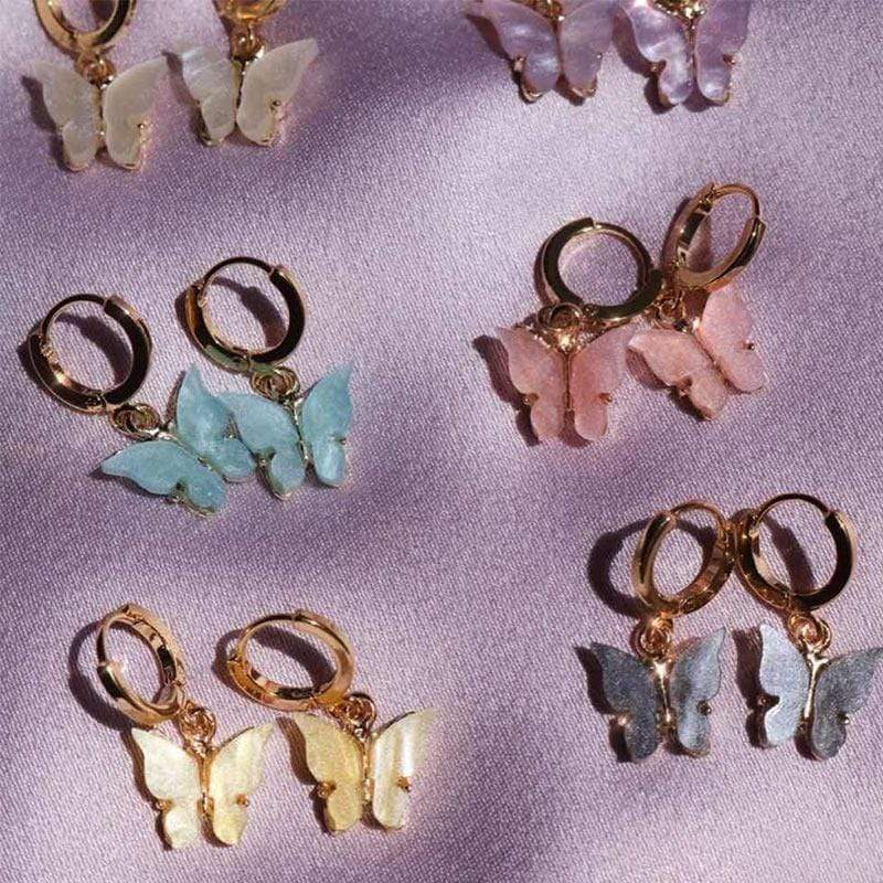 glambear Pastel Butterfly Earrings