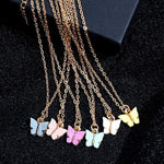 glambear Pastel Butterly Necklace