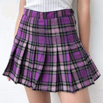 Glambear Purple Pleated Skirt