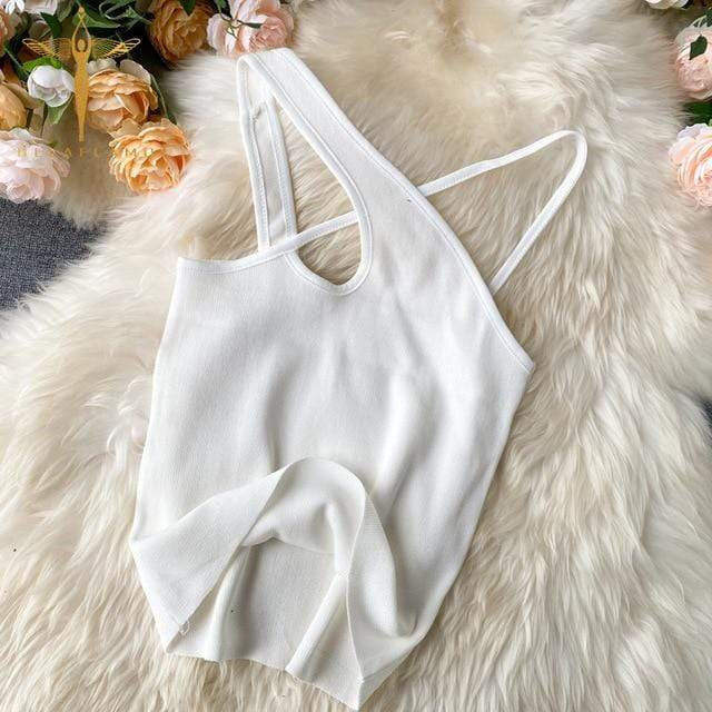 Glambear White / One Size Chaia Cross Cami