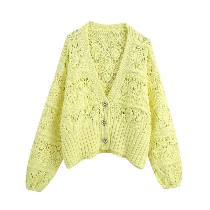 Glambear Yellow Diamente Cardigan