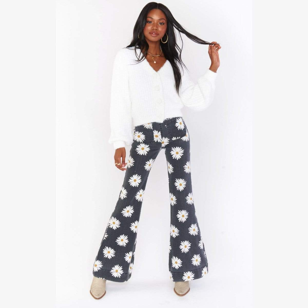 Farrah Pull On Flares-Daisy Love