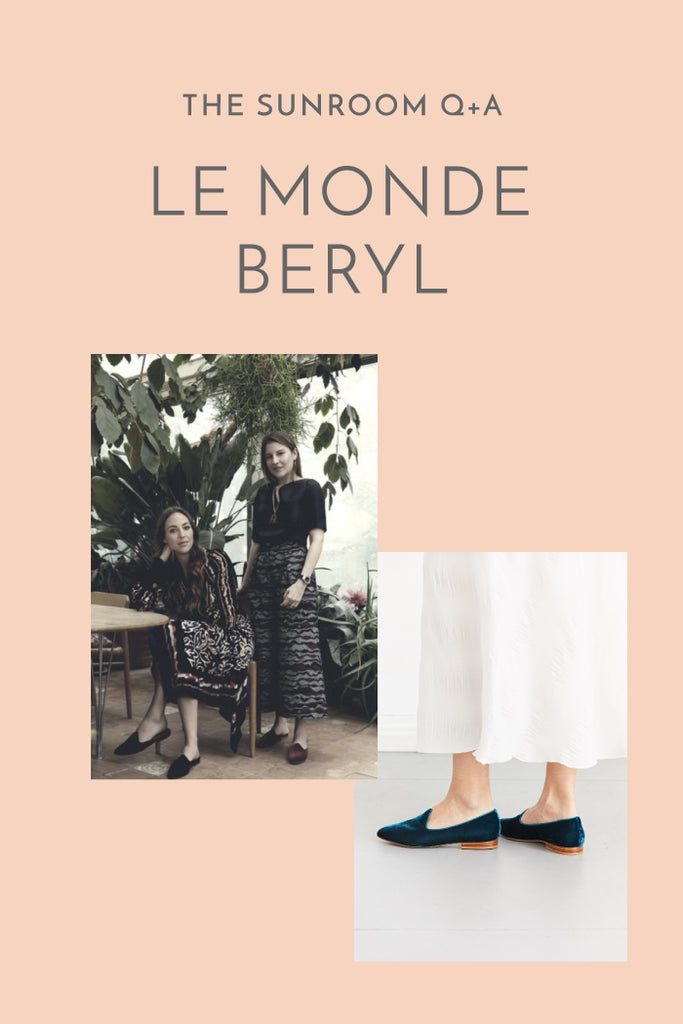 The SUNROOM Q+A: Le Monde Beryl