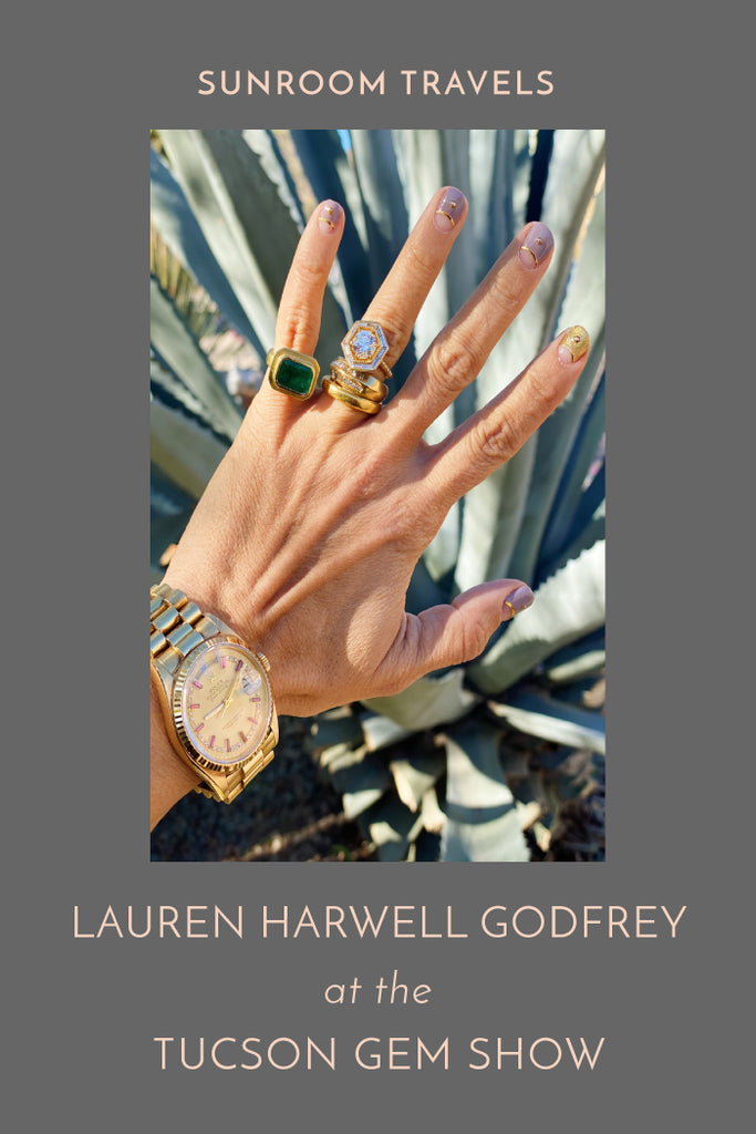 SUNROOM Travels: Lauren Harwell Godfrey at the Tucson Gem Show