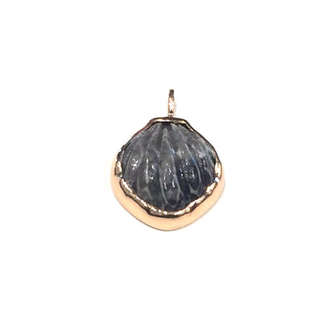 Classic Deco Mexico Shell Fossil Coral Pendant Charm