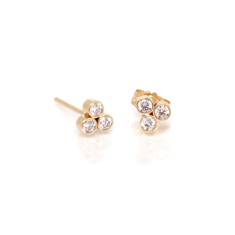 Diamond Bezel Trio Earring SINGLE