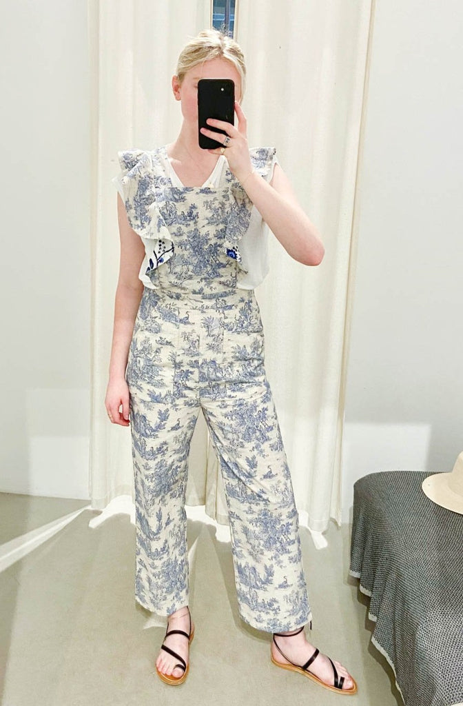 Alix of Bohemia Blue Toile Overalls