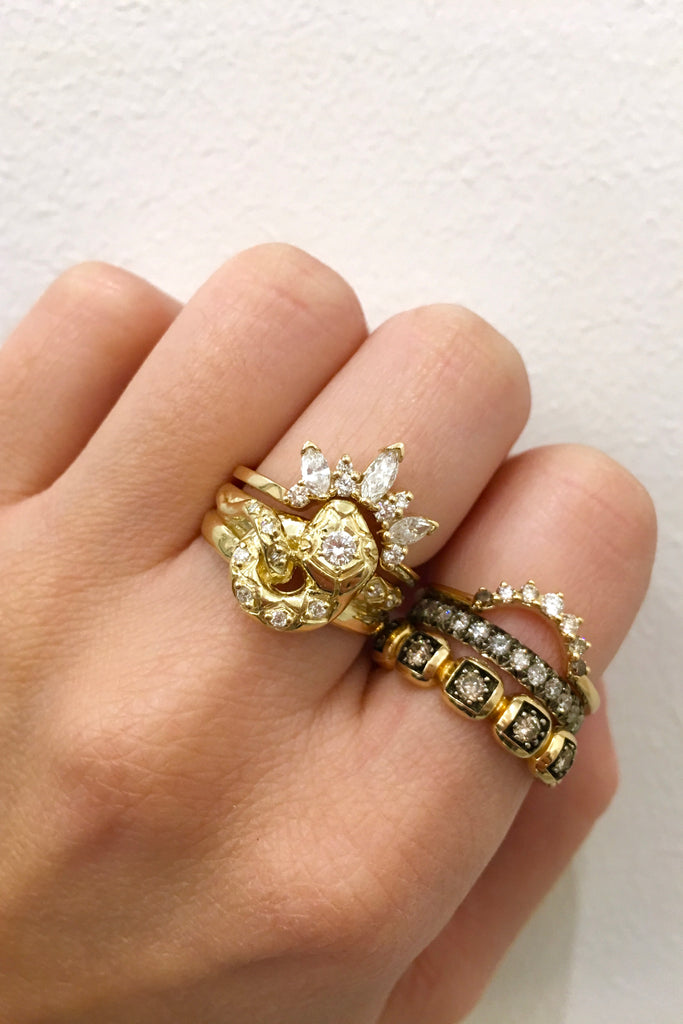 Victorian Serpent Ring, 14K Yellow Gold