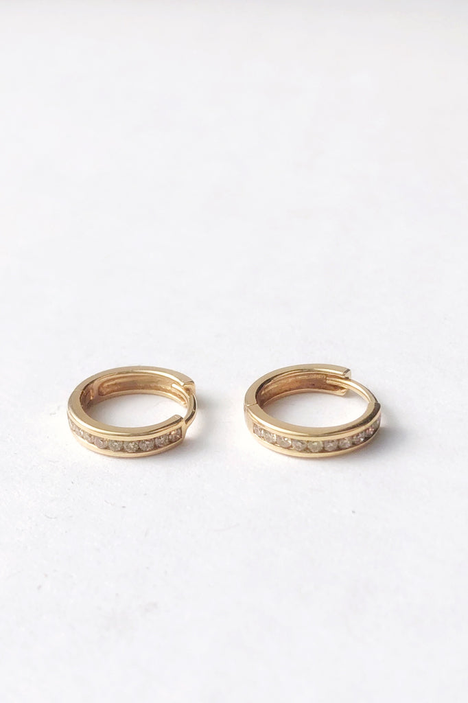 Licol Hoops, 14K Yellow Gold