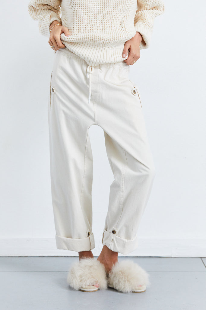 Canvas Man Style Pull On Pant