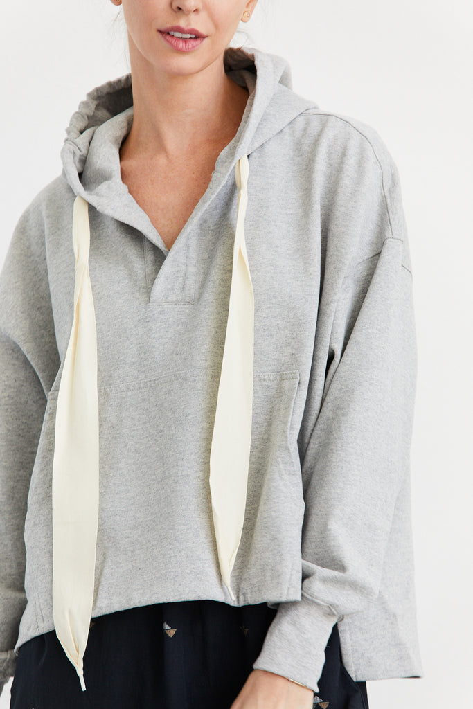 Side Split Hooded Fleece Sweatshirt