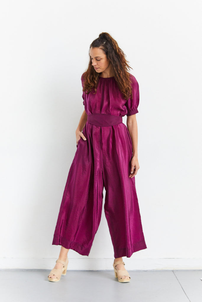 Theos Jumpsuit in Cupro