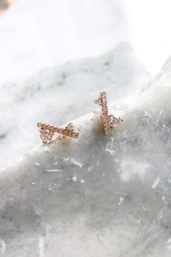 Diamond Dusted Meridian Stud SINGLE