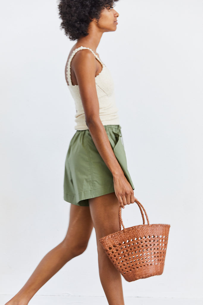 Cannage Myra Basket, Tan