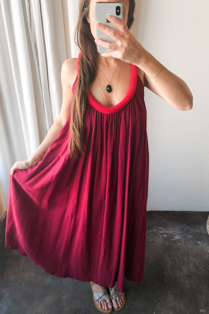 Pomegranate + Rouge Sahara Chemise Dress
